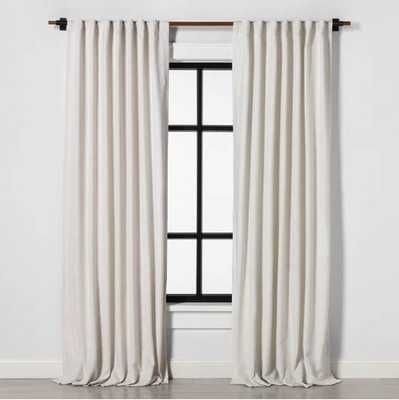 Curtain Panel Solid Sour Cream - Hearth & Hand™ with Magnolia - Target