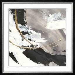 """Gilded Arcs I, Allegro Silver 1.5"""" Frame, Crisp - Bright White 2.5"""" Mat, Standard Acrylic - art.com"""