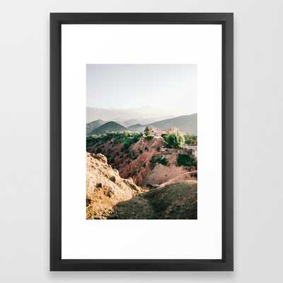 Travel Photography Atlas Mountains Framed Print - vector black - Society6