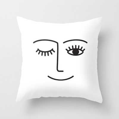Wink Throw Pillow - Society6