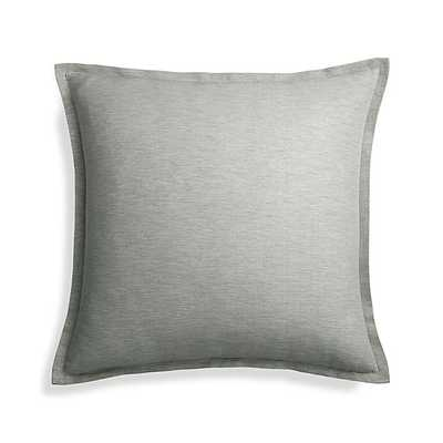 """Linden Grey 23"""" Pillow with Feather-Down Insert - Crate and Barrel"""