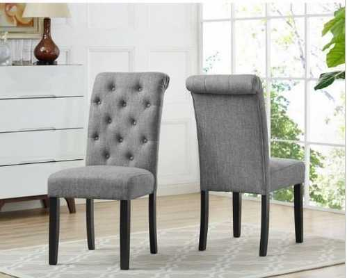 Brassex Inc. Soho Tufted Dining Chair - Set of 2 - Hayneedle
