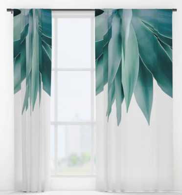 Agave fringe Window Curtains - Society6