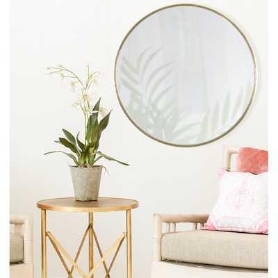 Dycus Accent Mirror, Gold - Wayfair