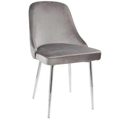 Elim Velvet Upholstered Dining Chair - Set of 2 - Wayfair
