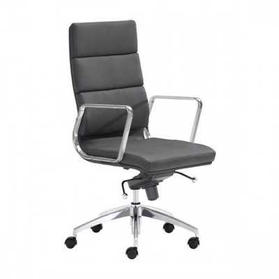 Engineer High Back Office Chair Black - Zuri Studios