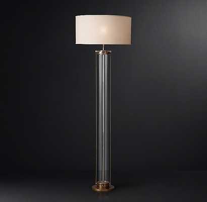 Flatiron Floor Lamp in Vintage Brass - RH Modern