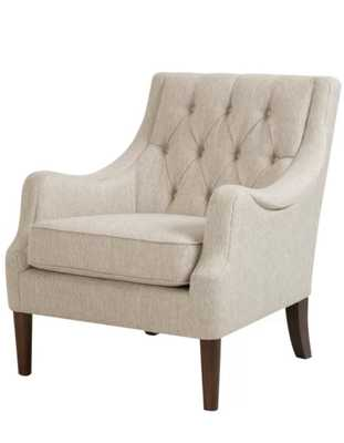 """Galesville 29.25"""" W Tufted Polyester Wingback Chair - Wayfair"""