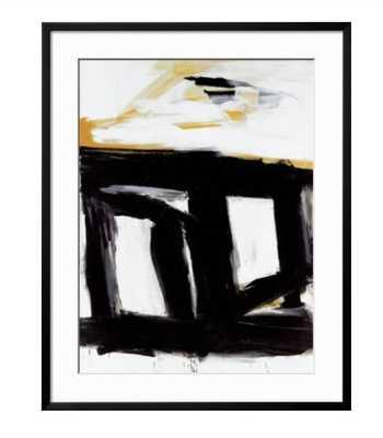 "Zinc Doors Art by Franz Kline - 28"" x 35"" Art Print - Soho Thin 1"" Black Frame - Crisp/Bright White 3.5"" Mat - Acrylic Clear - art.com"