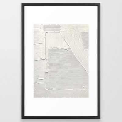 Relief [2]: an abstract, textured piece in white - Society6