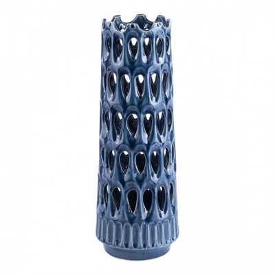 Alate Large Vase Blue - Zuri Studios