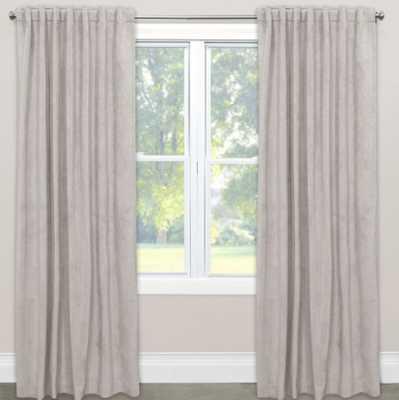 Skyline Room Darkening Velvet 84-Inch Rod Pocket/Back Tab Window Curtain Panel in Light Grey - Bed Bath & Beyond