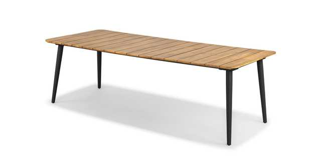 Latta Slate Gray Dining Table for 6 - Article