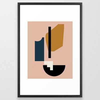 Shape study #2 - Lola Collection Framed Art Print 26 x 38, Vector Black - Society6