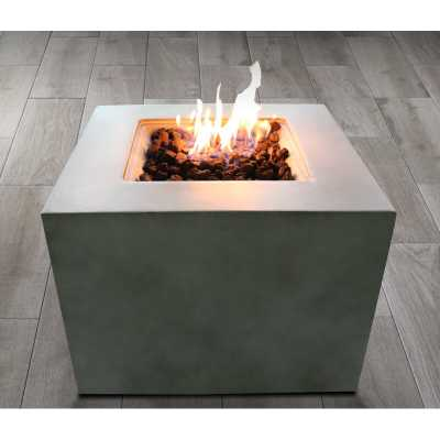 Nidhogg Box Polyresin and Stainless Steel Propane/Natural Gas Fire Pit - Wayfair