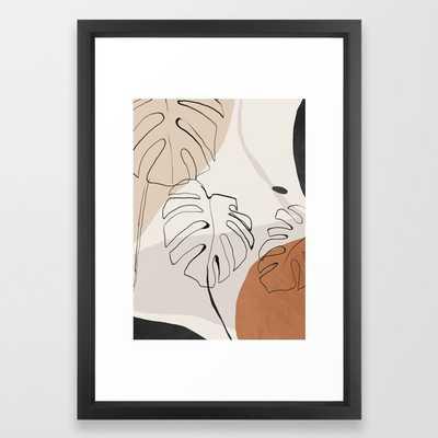 Minimal Abstract Art- Monstera Art Print by ThingDesign - Society6