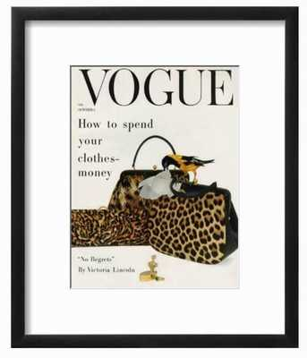 "Vogue Cover - October 1958 - Animal Accessories - 9"" x 12"" - art.com"