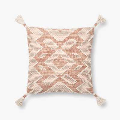 """P1147 MH Blush / Natural - 18"""" x 18"""" - Down Filled - Loma Threads"""