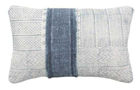 RADDE LUMBAR PILLOW, DENIM - Lulu and Georgia