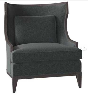 Fairfield Chair Baird Wingback Chair Body Fabric: 3155 Linen, Frame Color: Espresso - Perigold