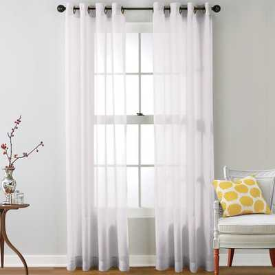 "Highlawn Solid Sheer Grommet Set of 2 Curtain Panels 120"" - White - Wayfair"
