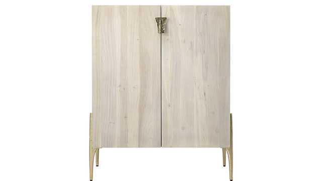 cast whitewash acacia cabinet - CB2
