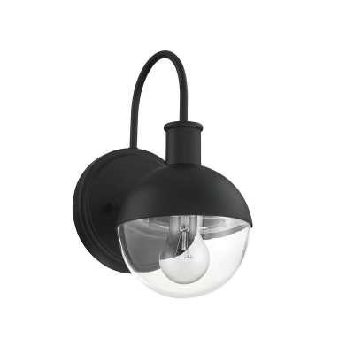 Brayden Studio Amadeo Outdoor Wall Lantern in Matte Black - Wayfair