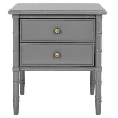 Aylin 2 Drawer Nightstand - Gray - Wayfair