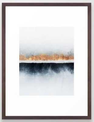 Horizon Framed Art Print, Conservation Walnut, 15 x 21 - Society6
