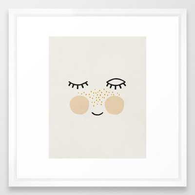 Eyelashes, Cute, Mid century modern kids wall art, Nursery room Framed Art Print - Society6