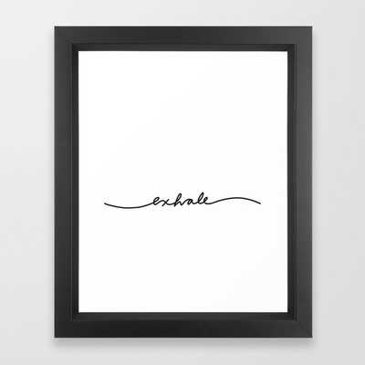 "134 exhale Framed Art Print, 10""x12"", Vector black frame - Society6"