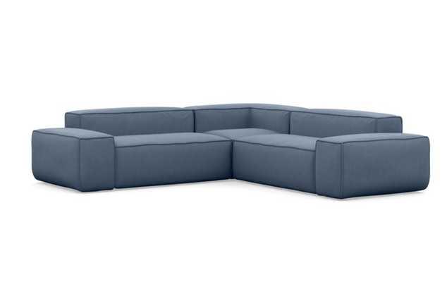 Gray Corner Sectional in Oasis - Interior Define