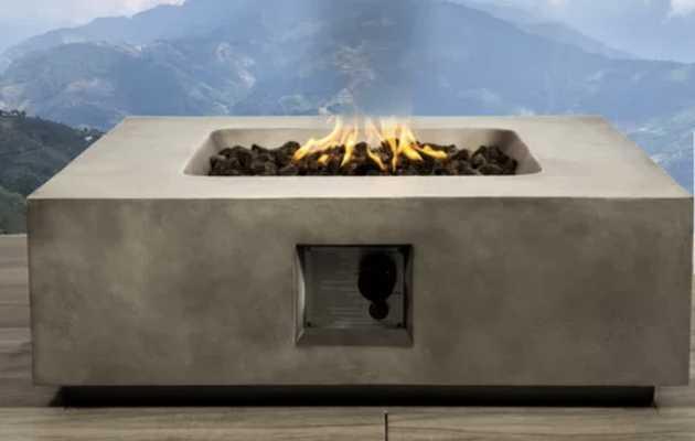 Santiago Concrete Propane Fire Pit Table - AllModern