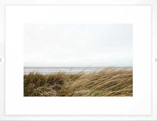 "Beach Grass - vector white - 20"" x 26"" - Society6"