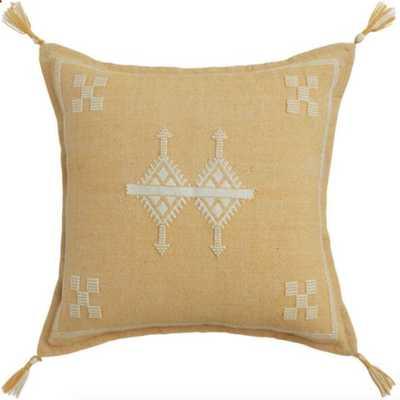 Woven Playa Indoor Outdoor Throw Pillow - Yellow - World Market/Cost Plus