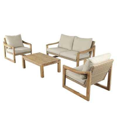 Bolivar Courtyard Casual Complete Patio Set with Cushions - Wayfair