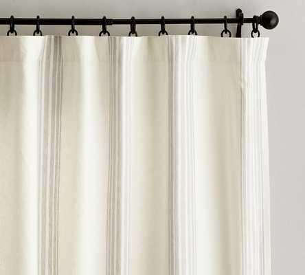 "Riviera Stripe Drape, 50 x 96"", Sandalwood - Pottery Barn"