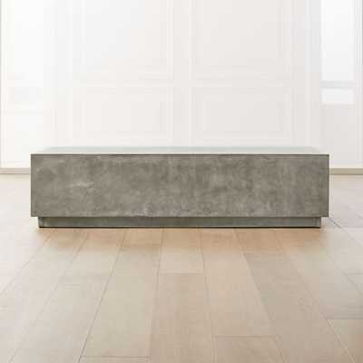 Matter Grey Cement Rectangle Coffee Table - CB2