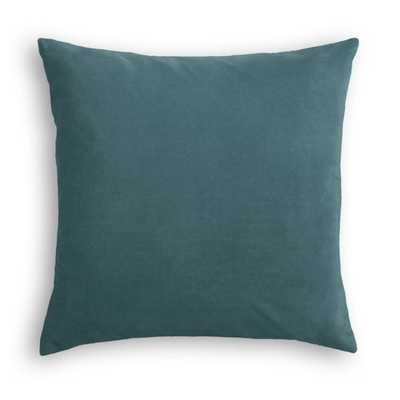 "SIMPLE THROW PILLOW | in classic velvet - peacock - 20"" x 20"" - Poly Insert - Loom Decor"