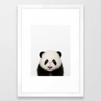 "Baby Panda, Baby Animals Art Print By Synplus Framed Art Print with Vector White Frame - 15""x21"" - Society6"