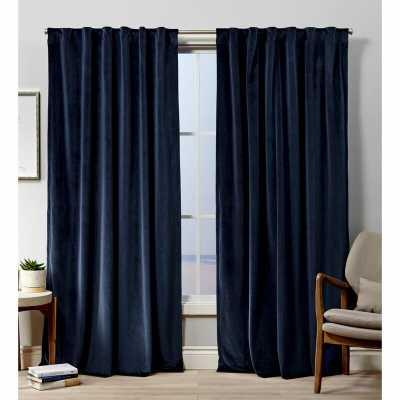 "52"" x 108"" Tremblay Velvet Heavyweight Hidden Solid Room Darkening Tab Top Curtain Panels (Set of 2) - Wayfair"