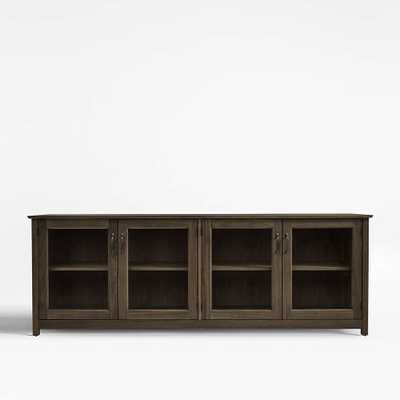 """Ainsworth Walnut 85"""" Media Console with Glass/Wood Doors - Crate and Barrel"""