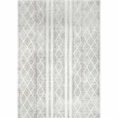 Warleigh Geometric Gray Area Rug - Wayfair