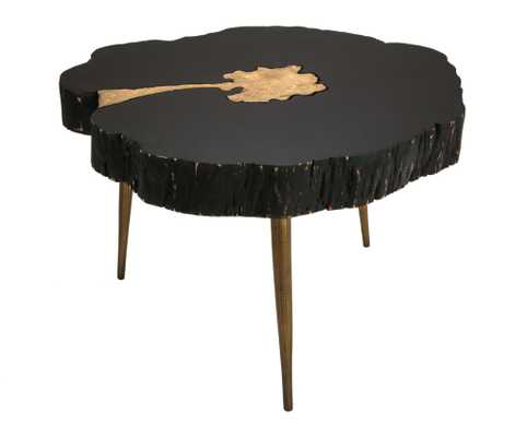 Kenzie Black and Brass Coffee Table - Maren Home