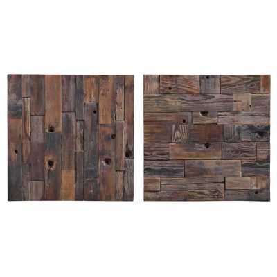Astern Wood Wall Decor, S/2 - Hudsonhill Foundry