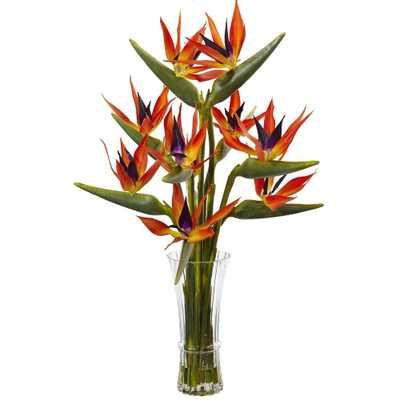 Large Birds of Paradise in Vase - Fiddle + Bloom