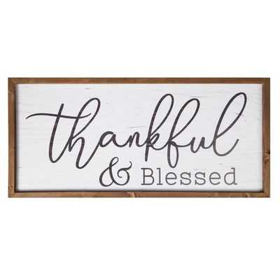 Thankful and Blessed Frame Wall Décor - Birch Lane