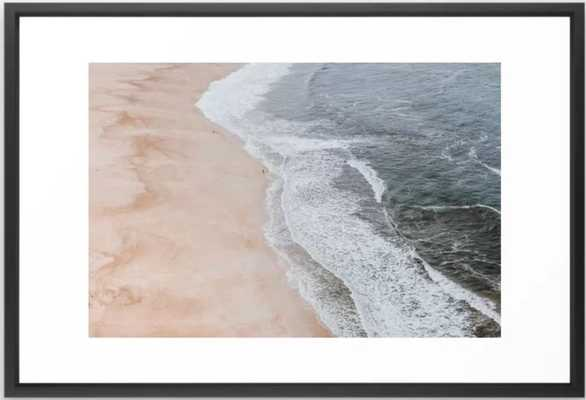 "seashore Framed Art Print, black vector, 26"" X 38"" - Society6"