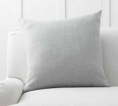 "Belgian Linen Pillow Cover, 24"", Chambray - Pottery Barn"
