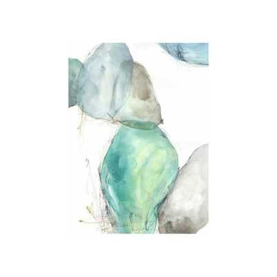 'Blue Pebbles I' Print- 41x30- Image Coat-Image Brush Gel - Perigold